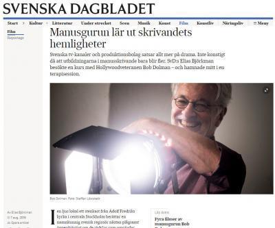 Artikel om Bob Dolman i Svenska Dagbladet